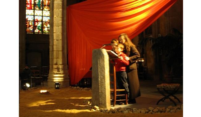 Limoges 2005 : une maman et ses deux enfants