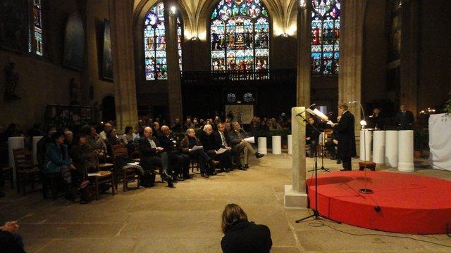 Limoges 2012 : Présentation de la lecture devant les responsables des communautés